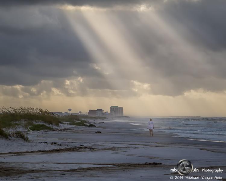 Sun Rays on the beach