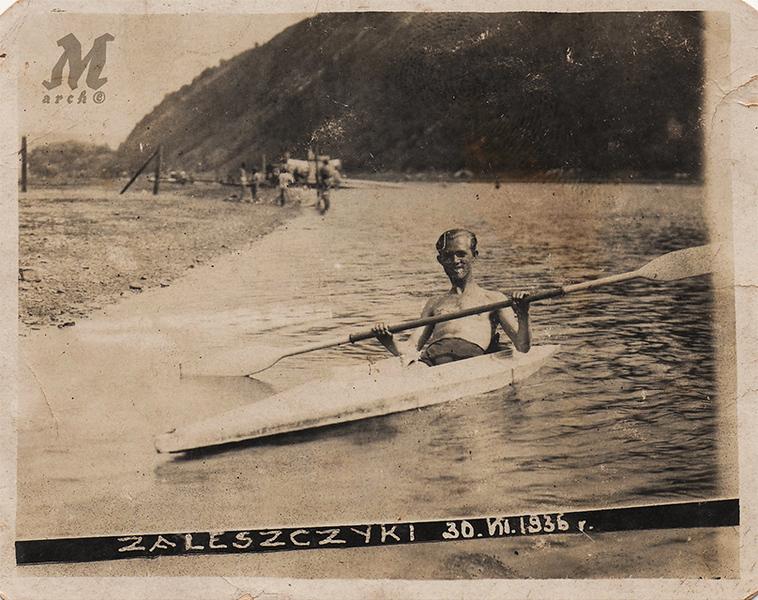 Яків Палагнюк. Заліщики. Дністер. Тіниста пляжа. 30 липня 1936
