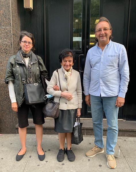 New York. Oct. 1, 2020. Alexandra Bellak, Elizabeth Leszczynska Bellak (formerly Ariana Spiegel), and Vasyl Lopukh