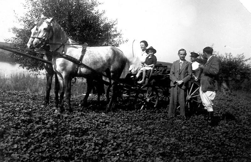 Vilage Stavky. 1935-36. Roza, Ariana (Elizabeth), Bernard Spiegel