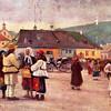 169. На ринковій площі в Заліщиках (Фрагмент картини В. Шульца).
