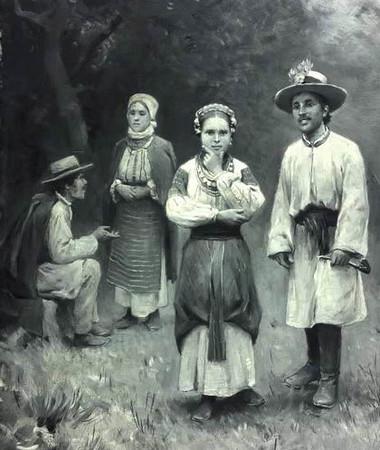 452. Народний одягу жителів Заліщиків та околиць.