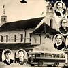 441. Сторінка випускного альбому учнів технікуму (на фоні ратуші)