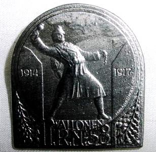 532. Памятний значок 2-го батальйону 58-го піхотного повку австро-угорської армії.
