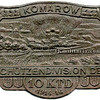 """560. Військовий значок стрілецького дивізіону з написом """"Заліщики"""" (зліва)"""