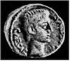 49. Монета римського імператора Тиберія (14-37 рр. н.е.) знайдена в Заліщиках