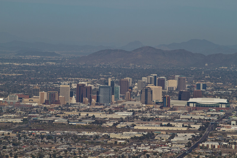 This photograph is of the city of Phoenix in Arizona. I was at Dobbins Lookout on top of South Mountain Park for this shot.