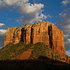 Red Rocks of Sedona. As always, the first dwellers were native Americans. Hohokam and Sinagua Indians sowed and weeded their crops along Oak Creek eight to ten thousand years ago in this region. The area didn't attract permanent white settlement until 1876 when James Thompson began farming here. <br /> This  Photograph was taken September 2010 at about 6pm