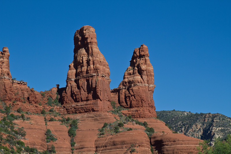 Red Rocks of Sedona. This formation is called the  Praying Nuns