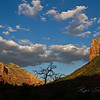 Red Rocks of Sedona. By 1902 the colony was large enough to put on the map. Brothers Ellsworth and Carl Schnebly, the town founders, petitioned for a post office. Post Office department needed a name for a cancellation stamp. So the two brothers decided to name the town after Carl's wife SEDONA. The town was not incorporated until 1987. <br /> This Photograph was taken September 2010 at about 6pm. I signed this photographed.