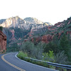 This is another image of a drive along State Route 87A through Oak Creek Canyon and Sedona.