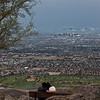 Photograph of Phoenix Arizona from the Dobbins Lookout at South Mountain Park.