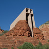 Chapel of the Holy Cross in Sedona, Arizona is built on Coconino National Forest land. The late Senator Barry Goldwater assisted Staude in obtaining a special-use permit. The chapel was built in 18 months at a cost of $300,000 US Dollars. The chapel was completed in 1956.