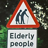 Elderly People cross sign