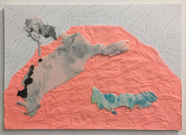 Mapping landscapes II, collage