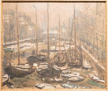 El Geldersekade de Amsterdam en Invierno