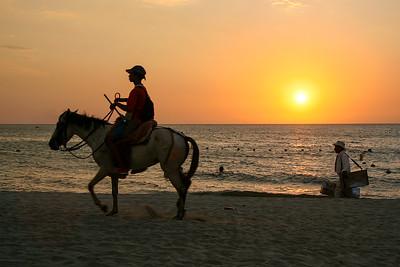 Sunset on the Beach (El Rodadero, Santa Marta, Colombia)