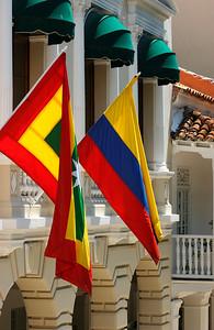 Regional and National Flag (Cartagena)