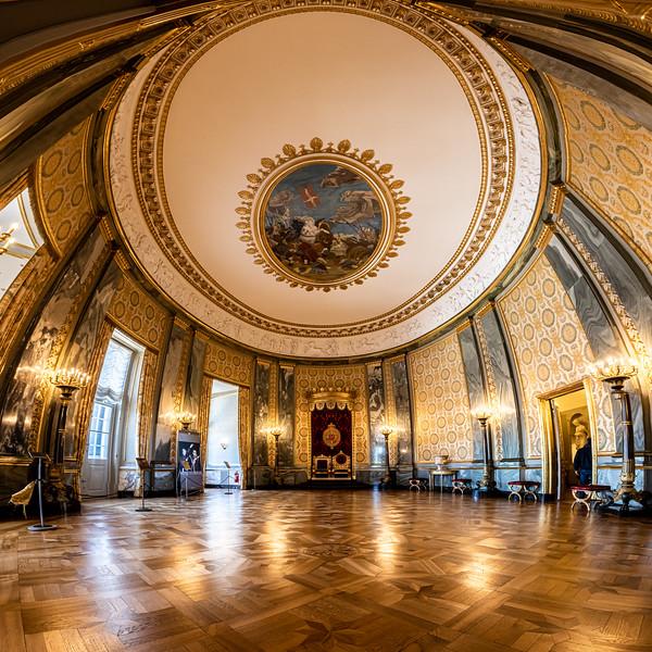 Throne Room in Christiansborg Palace, Copenhagen, Denmark