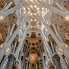 Ceiling, Sagrada Familia, Barcelona, Spain