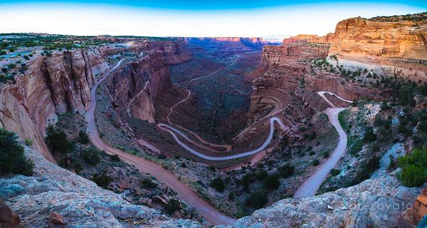 Shafer Canyon Road, Canyonlands N.P., Utah