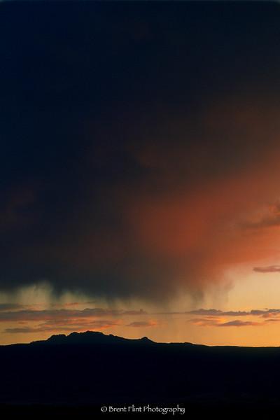 S.1798 - sunset rainclouds over Devil's Head, Douglas County, CO.