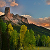 Chimney Rock at Sunset
