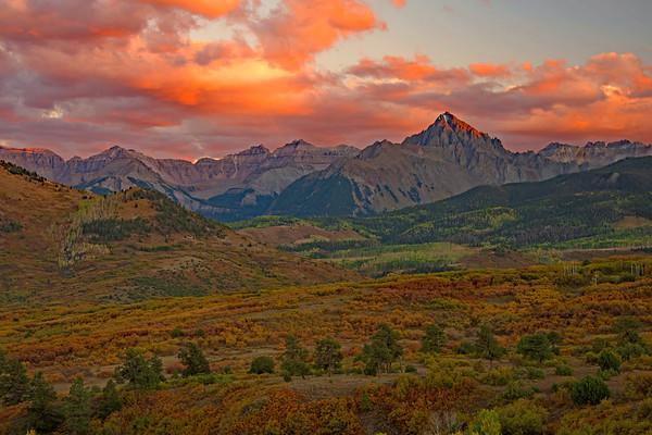 Rainbow Mountain Sunset