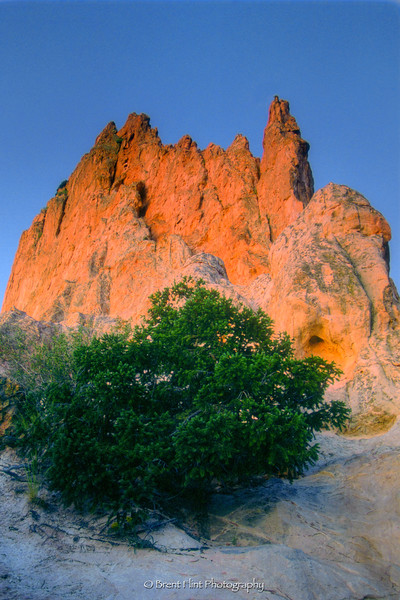 S.1741 - sandstone formation at dawn, Garden of the Gods, CO.