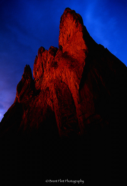 "S.1780 - ""Monarch"" - sandstone formation at sunrise, Garden of the Gods, CO."