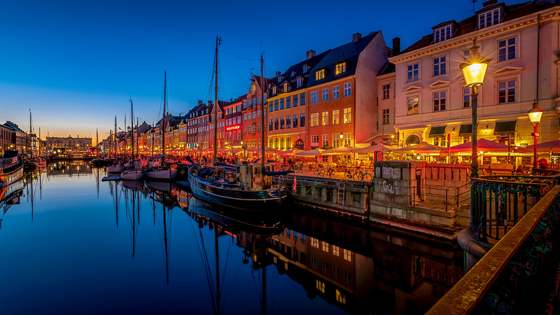 When the sun sets in Copenhagen...