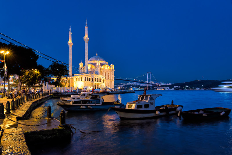 Ortaköy Mosque at Bosphorus River, Istanbul