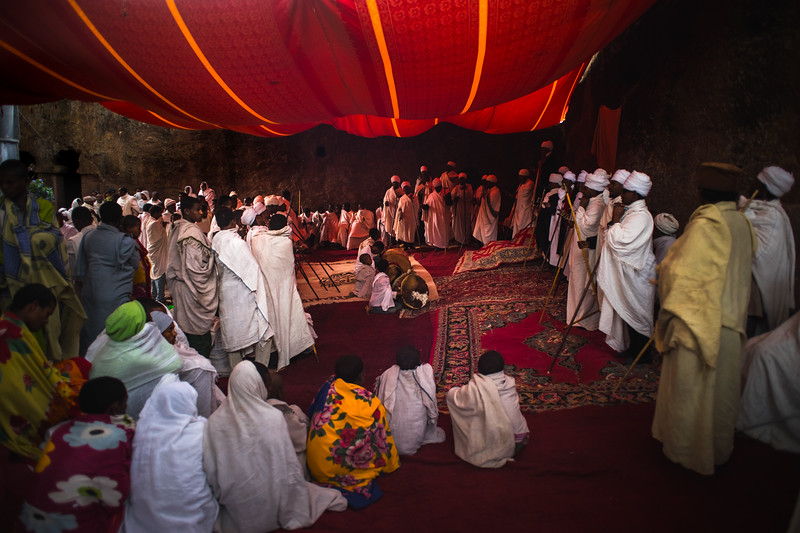 Lalibela : St Mary's Day dawn mass