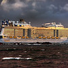 Ovation of the Seas Outbound from Wellington, Dec 23, 2016