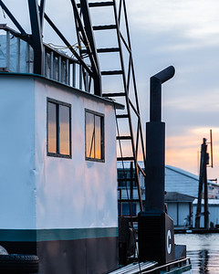 Detail shot of a tug boat.  I went out to get more shots last pm but it was gone.