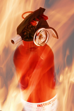 extinguisher on fire