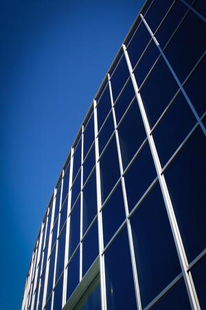 Modern Office Building Glass Wall Pattern