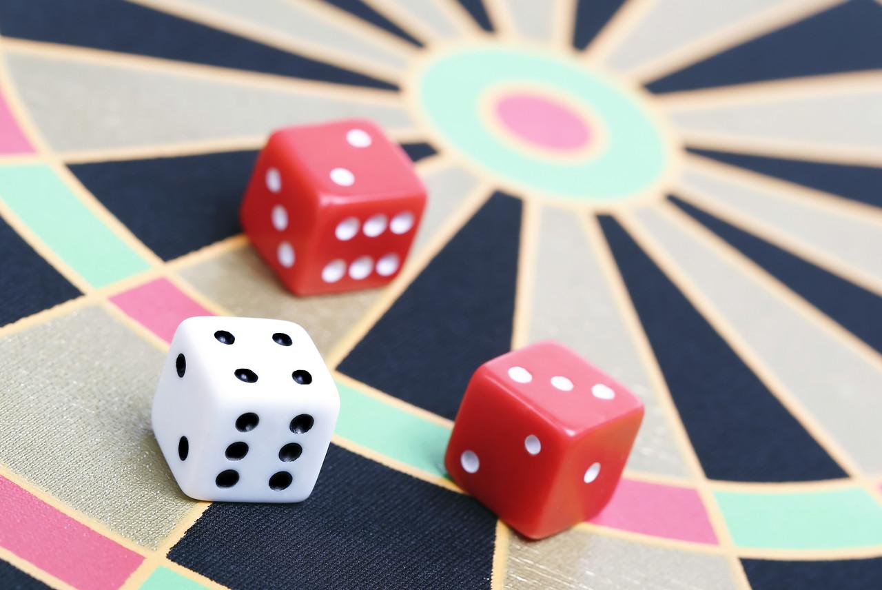 dice on game board