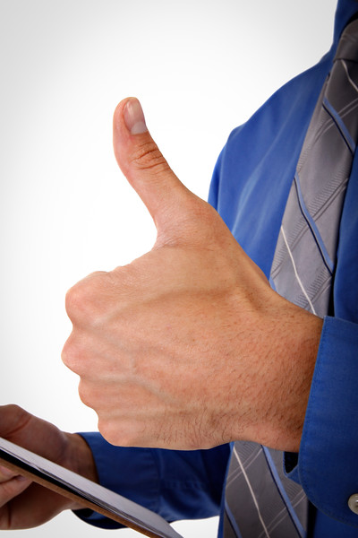 Businessman with Thumb Up Sign Close-up