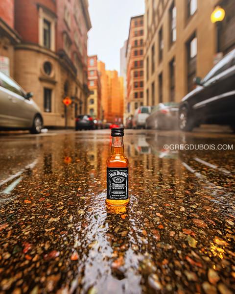 JD Travel Bottle on Batterymarch Street in Downtown Boston
