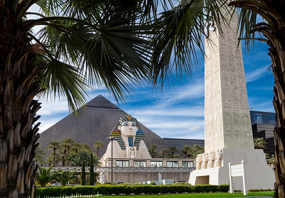 Luxor Hotel with Palms