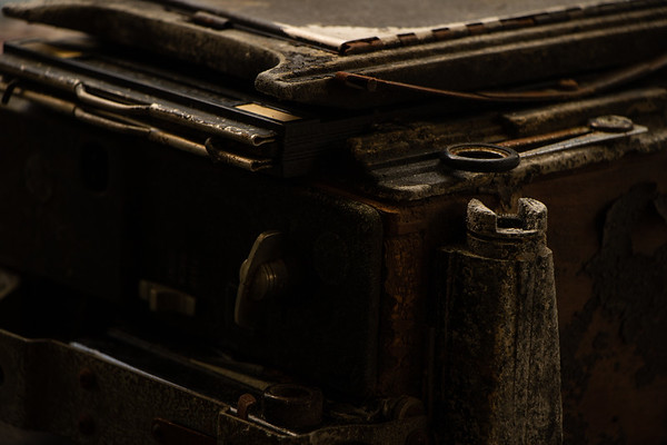 Antique Speed Graphic Camera Close Up