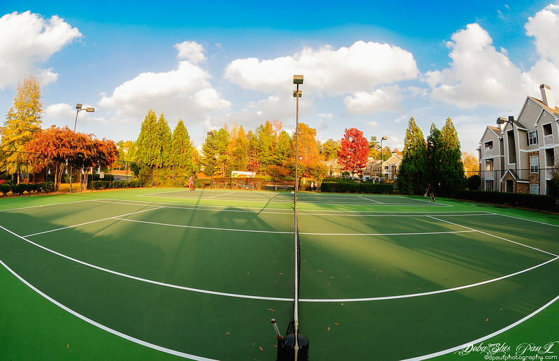 AMLI At Northwinds - The larger tennis court , Alpharetta, Georgia - USA