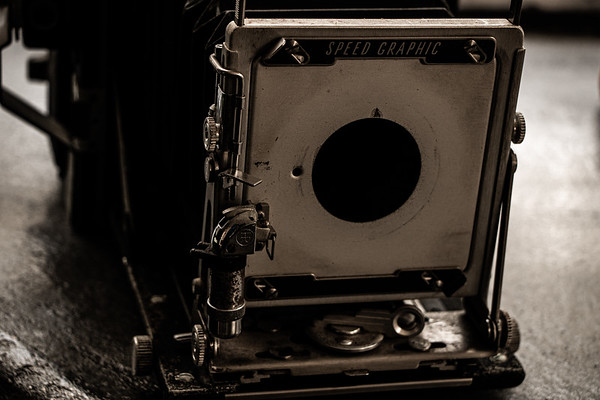 Antique Speed Graphic Camera Close Up 2