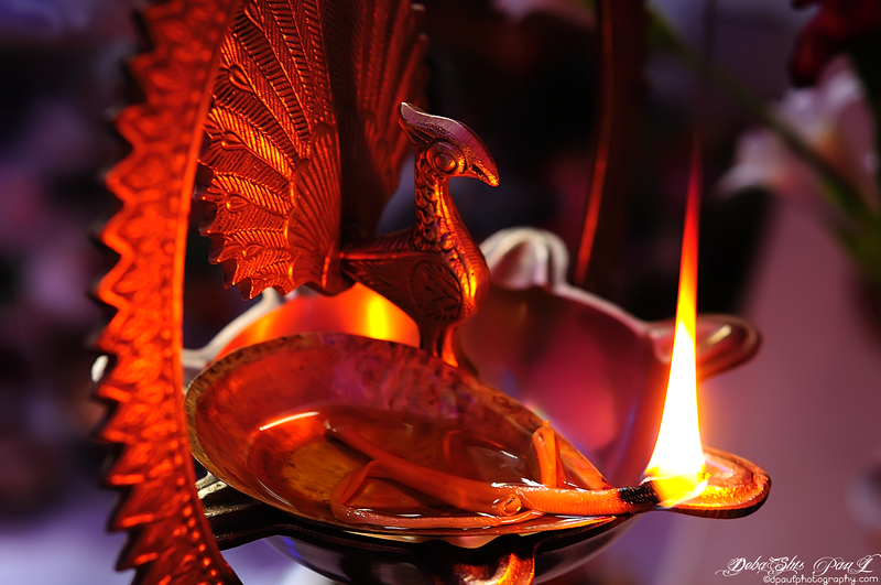 "Ritual during the infusing life into an idol of devi ""Maa Saraswati"" @ My Apartment - Kolkata, India"
