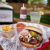 Moe's Original BBQ Pulled Pork Sandwich in Eagle, Colorado.
