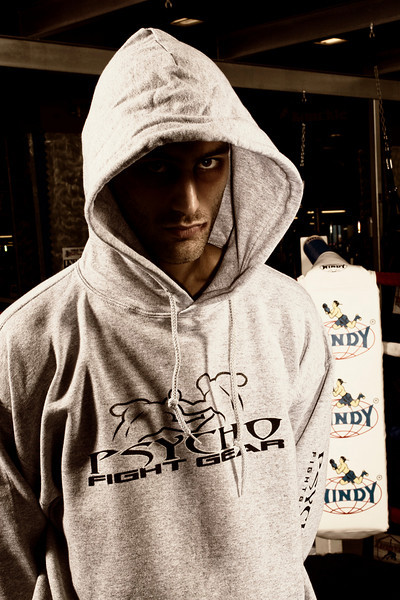 Pscycho Fight Gear advertising and catalog images.