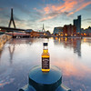 JD Travel Bottle by Charles River Locks with Zakim Bridge and West End