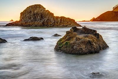 Rocks along Indian Beach