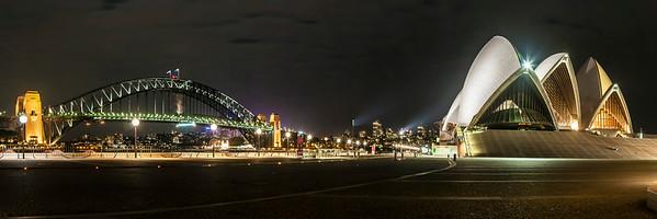 Nighttime in Sydney